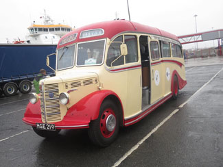 Thank You Peter Spasov For These Pictures of Our Coach At Lerwick Ferry Port, Shetland