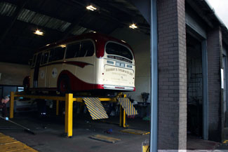 Bennetts Coach Yard at Kilwinning for Grease Up & Check Over
