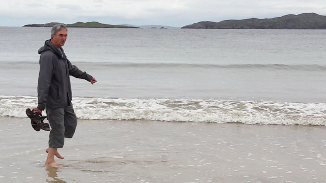 Rev Michael Kingston Having A Paddle At Clashnessie