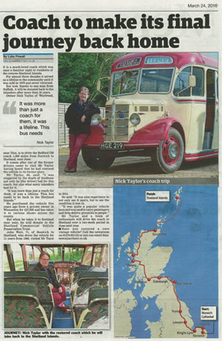Shetland Road Trip - June 2017 - Coach Press Article