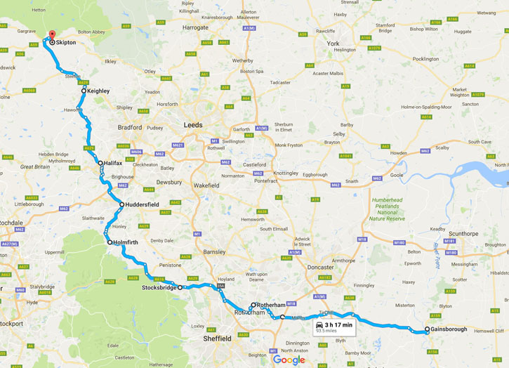 Shetland Road Trip - June 2017 - Route Day Two - Skipton